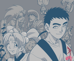 Tenchi and Fam by Gazzycakes