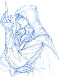 SKETCH: Ezio by ninjafaun