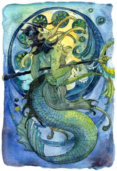 Nami the Tidecaller by sunnyfiny