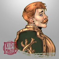 Morning Warm up Portrait 014: Escanor by KidiMaster