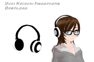 MMD Yuki Koiyuki Headphone DL by supersonicwind69
