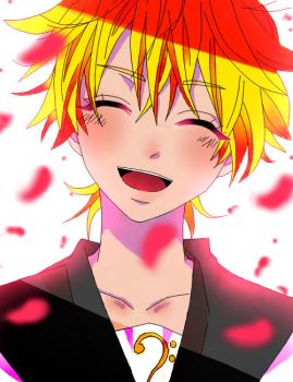 Lineart  Kagamine Len  By Piko Chan4ever Coloured by Echo-tan