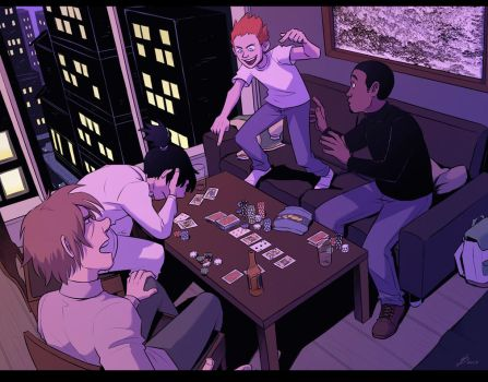 Game night by TheScatterbrain