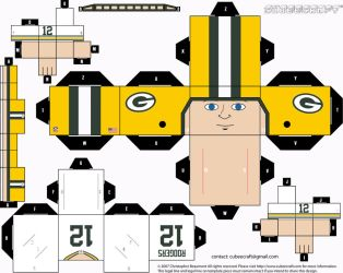 Aaron Rodgers Away Cubee by etchings13