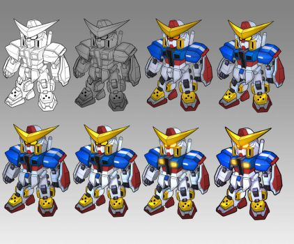SD Gundam- Coloring process by thiennh2