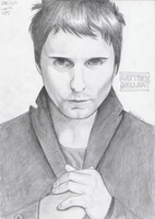 Matthew Bellamy drawing by LauraRamirez