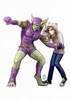 Commission: Monster Green Goblin and Gaby by Fandias
