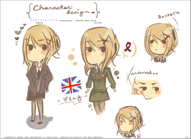 [ Character Design for fem.England. ] by tappeto-di-fragole
