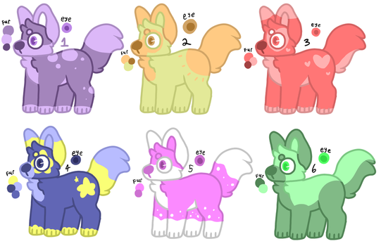 Colorful Puppo adopts (OPEN) by StrawberryMistro