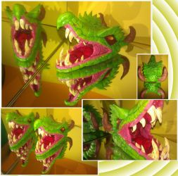 Emerald dragon head by Toinous77