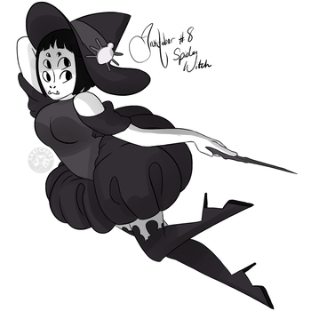 Inktober Day 8: Spider Witch by SakiCakes