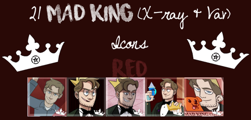 21 Red Mad King Icons  by kingdomheartsfangirl