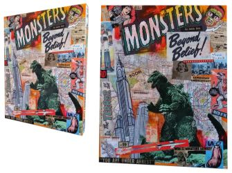 Monsters Junkpop Collage by luther1000