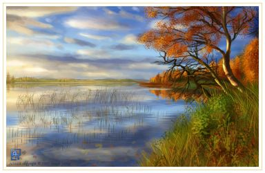 Autumn Painting by ArunaTramp