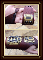 Steampunk Computer Cuff by Isinglass-Industries