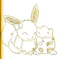 Eevee and Togepi by NintendoPie