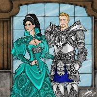 King Alistair and Queen Telaina Cousland by MacedonianMuse