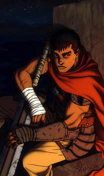 Berserk Fanart - Sitting it Out by Harseik