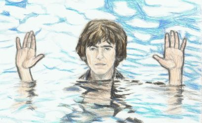 George Harrison showing his hands by gagambo