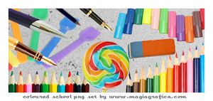 png set coloured school by Magiagrafica