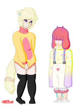 Clothes Swap: Asher and Tulley by Zelda88