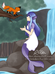 Mermaid and Fox by relyon