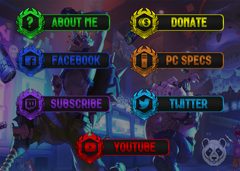 [FREE] Overwatch - Twitch Panels by lol0verlay