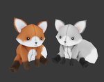 Fox Plushes by Rika-of-Thunder