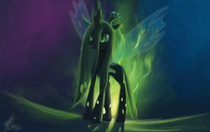 Chrysalis the Changeling Queen. by RaikohIllust