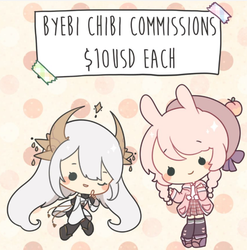 Chibi commissions open by Byebi