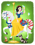 Snow White Carousel by NikkiWardArt