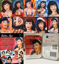 Versicolor Bettie Page cards by choffman36