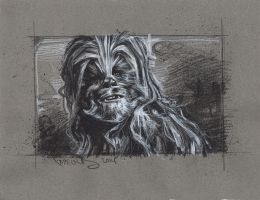 Chewbacca Drawing by JeffLafferty
