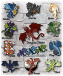RPG Dragon All Designs by The-GoblinQueen