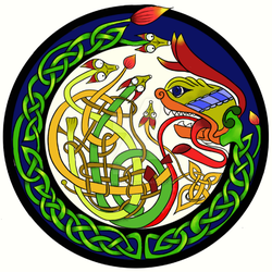 Celtic Knot Dragon Icon by LorraineKelly