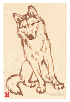 Aria Greenland Dog Coffee Art by WildSpiritWolf