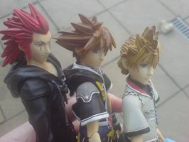 Kingdom Hearts Trio Faces by l3xxybaby
