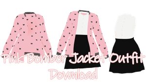 MMD - Pink Bomber Jacket Outfit Download by charlotte-rosewater