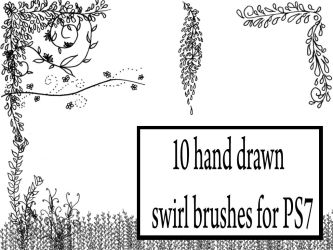 Hand drawn brushes 1 by stuff-by-hagrid