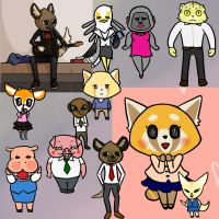 Aggretsuko stuff by NellyPixit