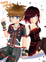 Sora x Ruby by Kinathefox