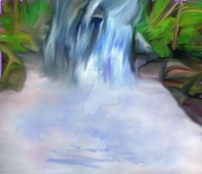 NH waterfall oiled paint 01 by lmtcloud
