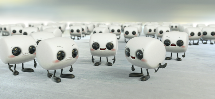 Zbrush Doodle: Day 1236 - Marshmallow Army by UnexpectedToy