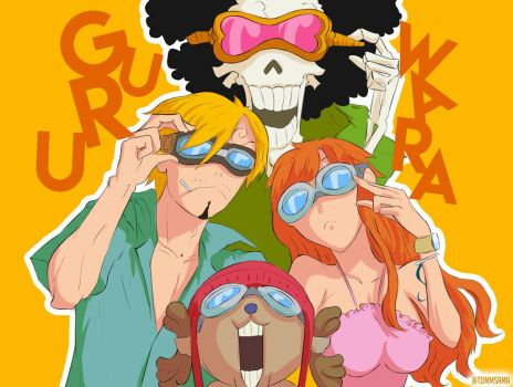 One Piece colorisation | Straw Hats Pirates by TommSama