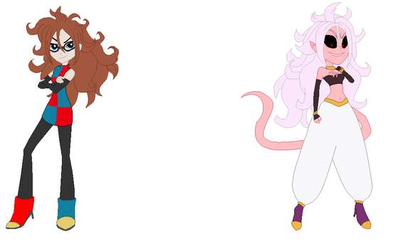 Android 21 in EG style (Human and Majin) by NativeBrony-91