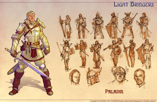 DnD Fantasy - Paladin by Atomic-Hermit