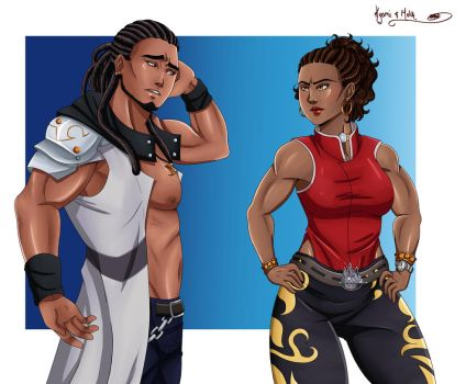 Commission: Kyomi and Melik by TheWickedBeast