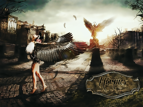 Photomanipulation about Harpies - Olym by RikkutheThief