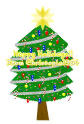 Christmas Card 2011 with candy canes by Christopia1984