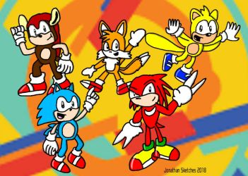 Some Classic Dudes and Knuckles by JonathanSketches
